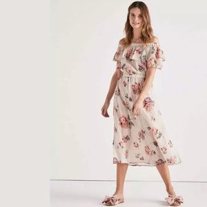 Lucky Brand | Off Shoulder Printed Floral Dress